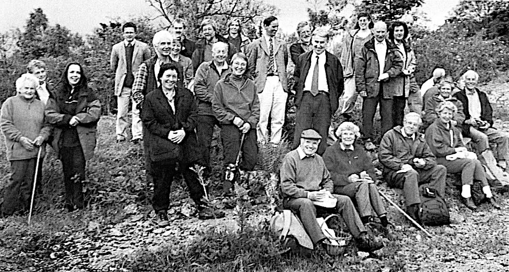 The Landowners celebrate their SSSI Award in 1999 on Whitbarrow