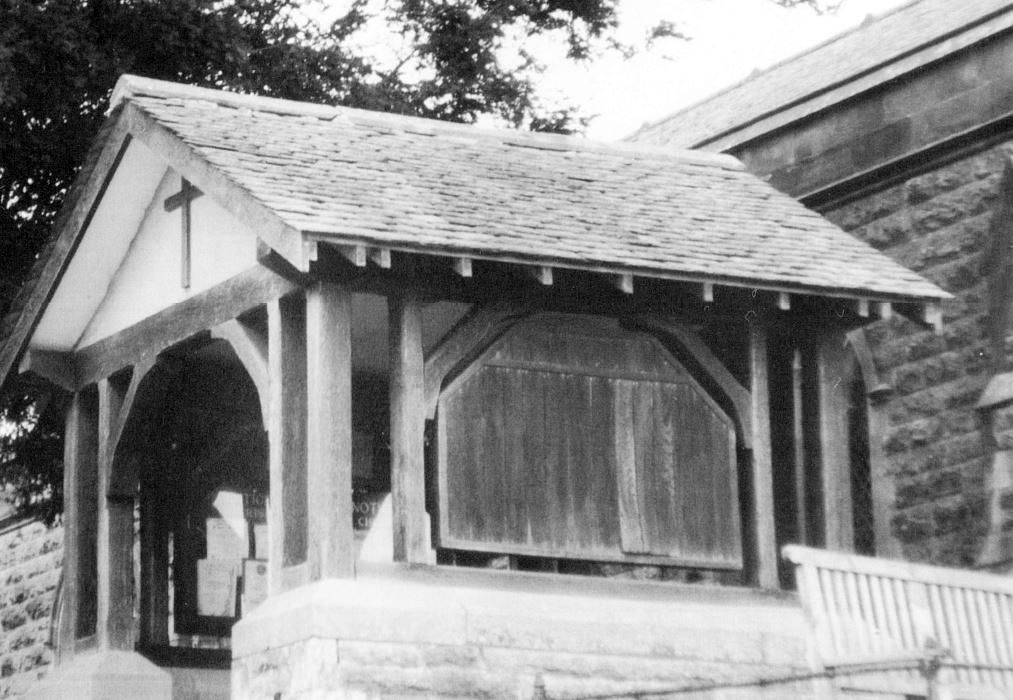 Lych gate, built in memory of Sybil and Hubert Argles