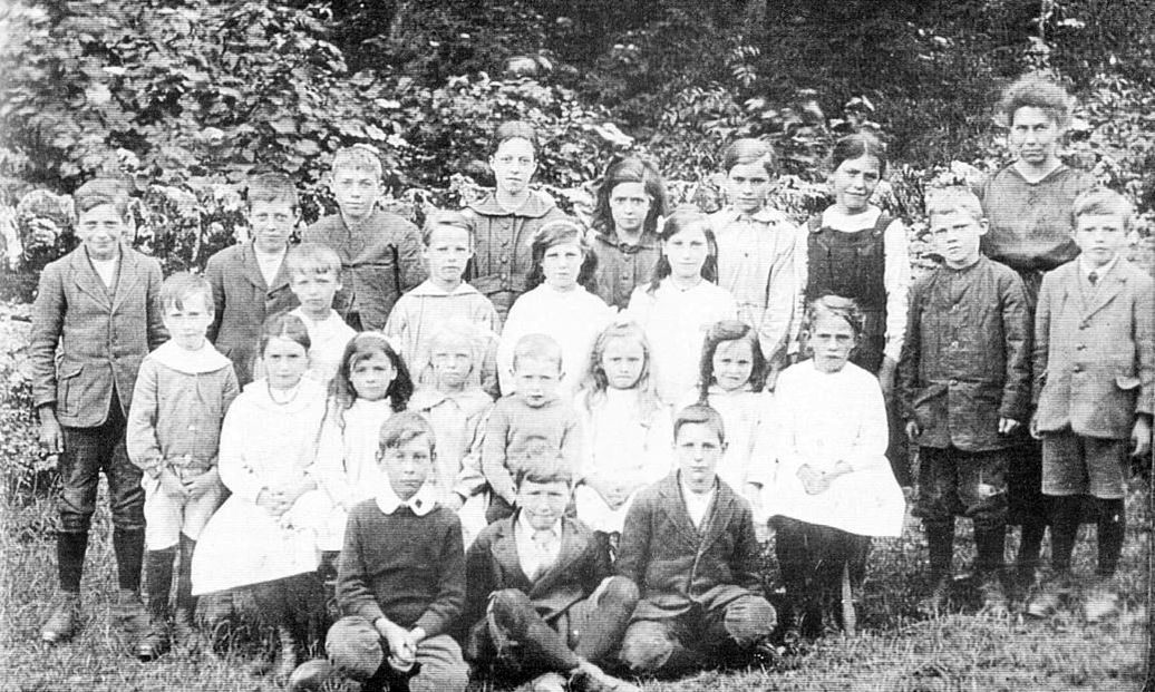 Howe School, 1920s. Teacher Miss Wood
