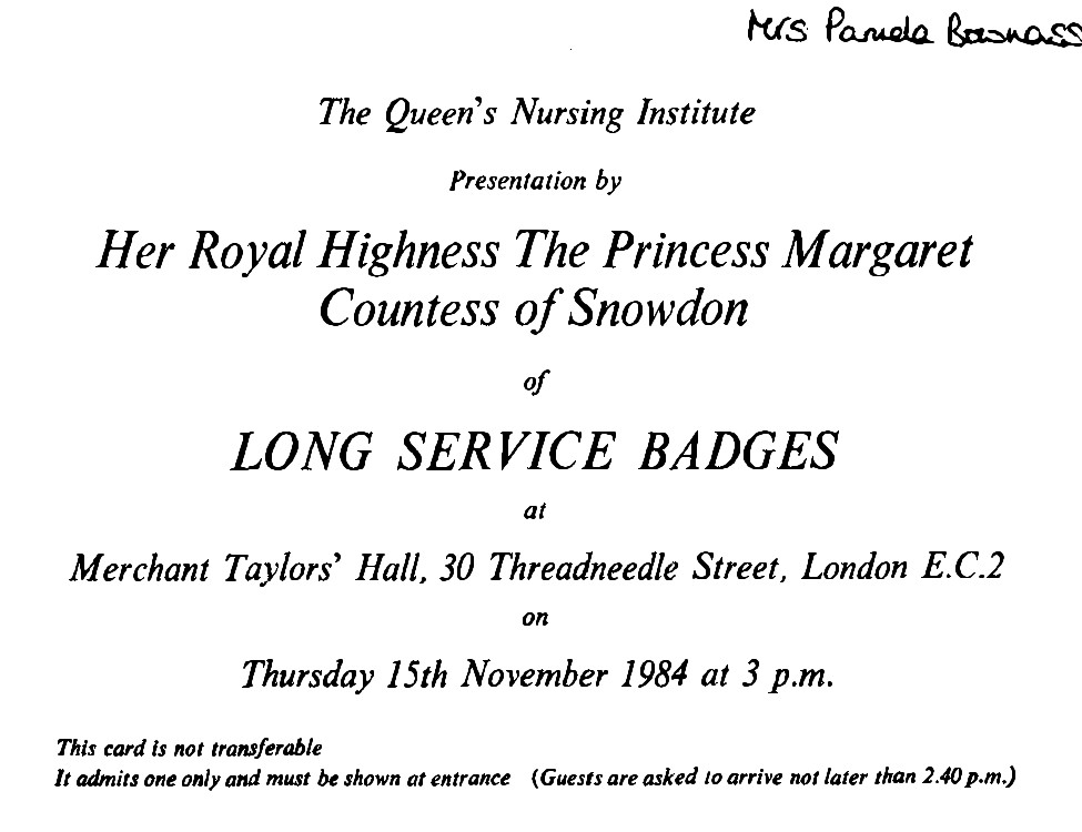 Invitation to receive long service badge