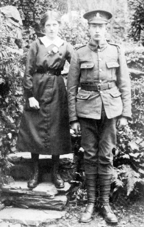 Henry Matthews and his sister. He was killed in action and awarded the Military Medal.
