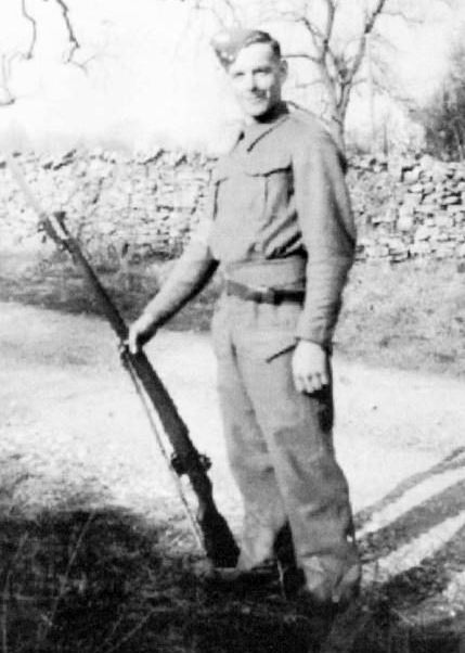Alan Jackson in his Home Guard uniform