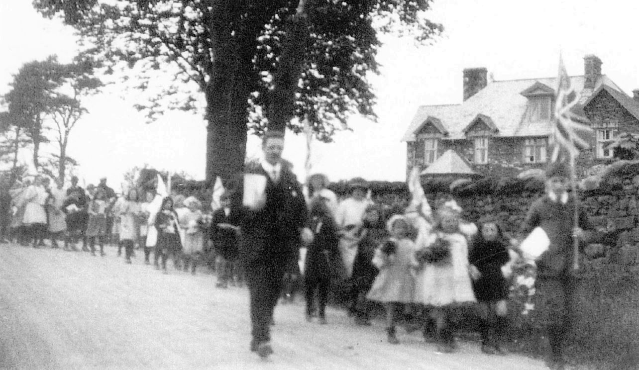 May Day procession to church, 1920s.