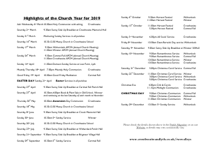 Church Highlights of the Year