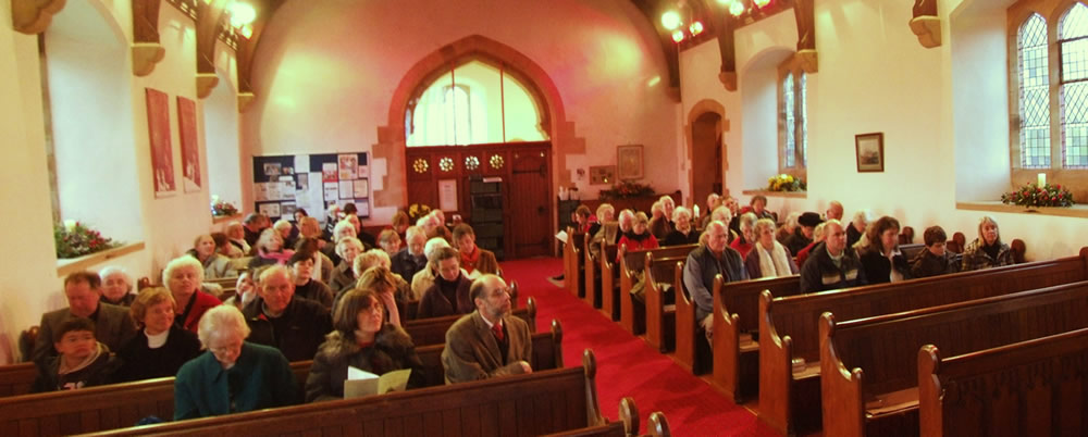 The church in worship under our warm-glow heating system