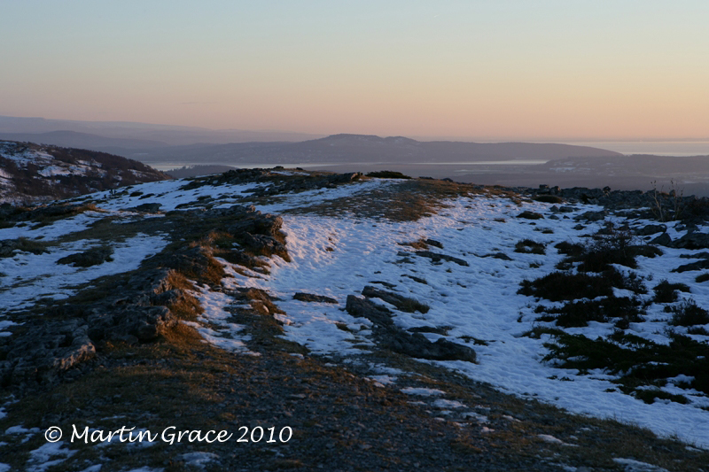 Arnside Knott from Lord's Seat, Whitbarrow Fell, January 3 2010 R 038CL