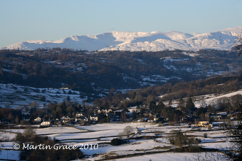 Crosthwaite in Snow with Fairfield behind, from Whitbarrow January 7 2010 R 022REL