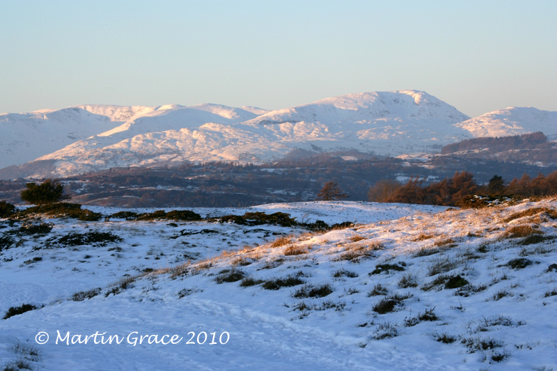 Fairfield and Red Screes from Whitbarrow, January 7 2010 R 010EL