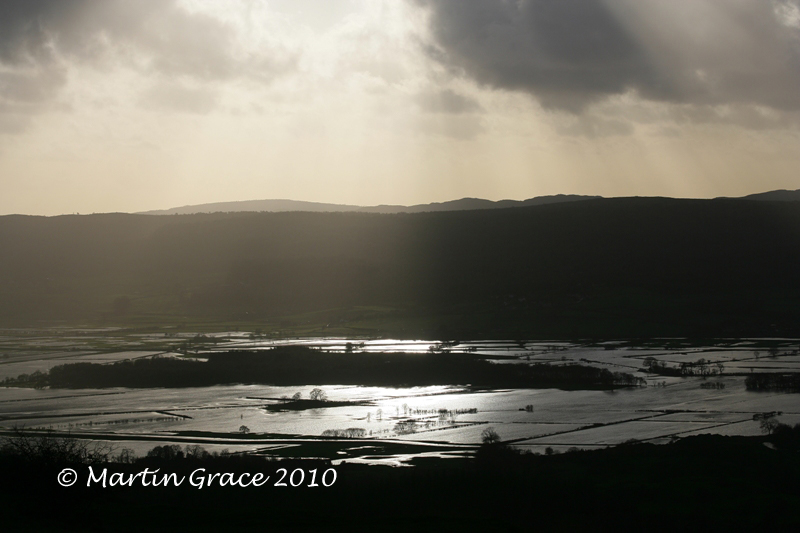 Flooded Lyth Valley from Scout Scar November 20 2009 028L