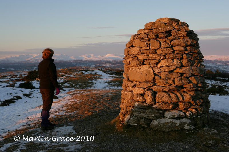Hervey Memorial Cairn, Lord's Seat, Whitbarrow Fell, January 3 2010 R 036L