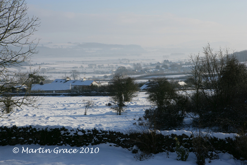 Lyth Valley in Snow Christmas Day 2009 R 004L