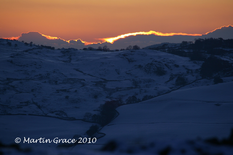Sunset from Whitbarrow, January 7 2010 R 008L